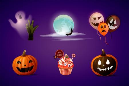 Bộ vector icon Halloween cực đẹp
