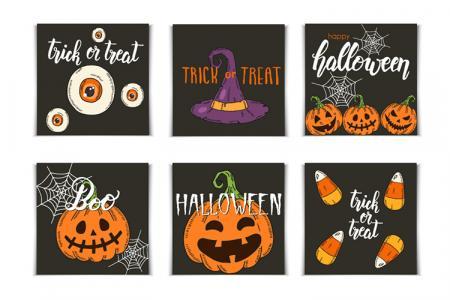 Share file vector avatar Halloween nhiều chủ đề