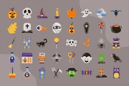 Free vector icon Halloween cực chất