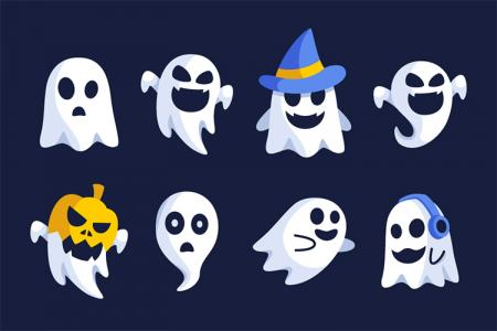Tải vector con ma Halloween hài hước