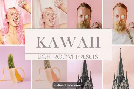 Tải Preset Lightroom Kawaii tone hồng nhạt (Mobile/Desktop)