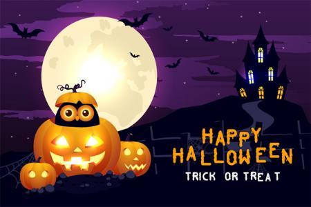 Vector phông nền Halloween file AI miễn phí chỉnh sửa Illustrator