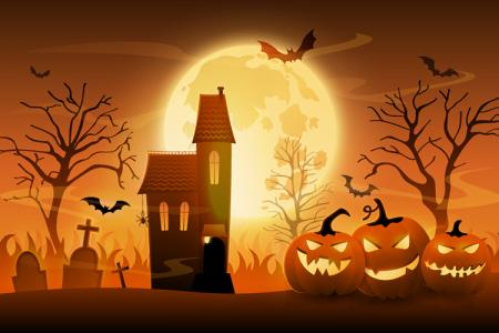Tải vector banner, background Halloween kinh dị