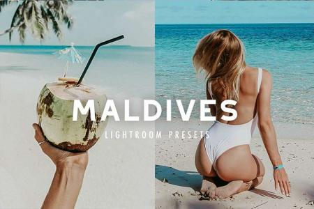 Share Preset Lightroom Maldives tone xanh (Mobile)
