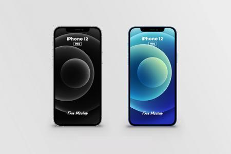 Download miễn phí PSD Mockup iPhone 12 Pro (2 màu)