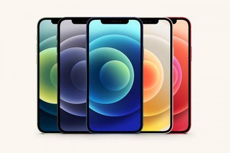 Chia sẻ PSD Mockup Iphone 12 với 5 phiên bản màu cực chất