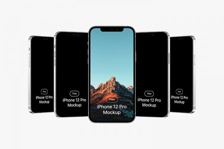 Tải miễn phí iPhone 12 PSD Mockup