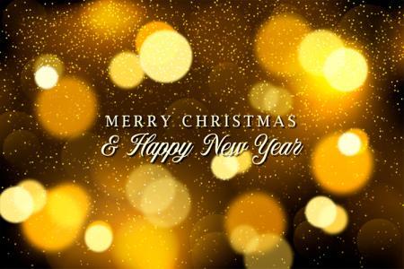 Vector background nền vàng cho giáng sinh và năm mới