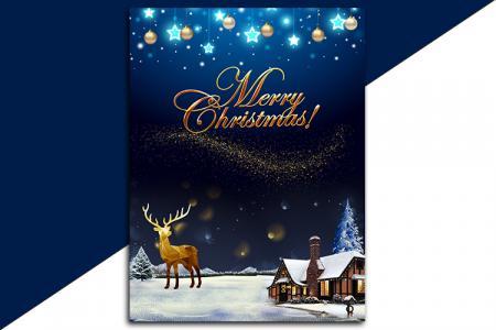 Miễn phí PSD mẫu poster giáng sinh Merry Christmas lung linh