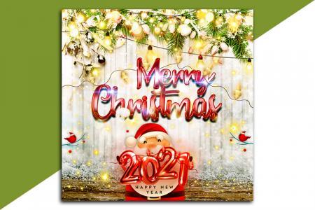 PSD background nền chúc mừng giáng sinh và năm mới 2021