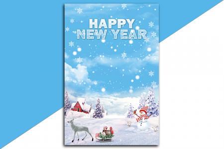Tải PSD background trang trí giáng sinh năm mới