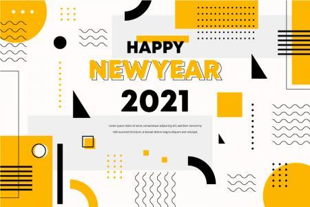 Tải vector banner background năm mới 2021 ấn tượng