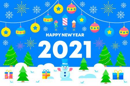 Download vector phông nền chúc mừng năm mới 2021
