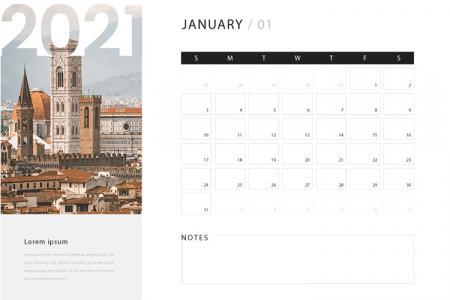 Chia sẻ vector mẫu thiết kế lịch để bàn năm 2021 đẹp