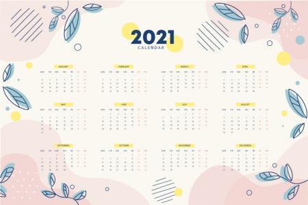 File vector background AI lịch hoa treo tường đẹp năm 2021