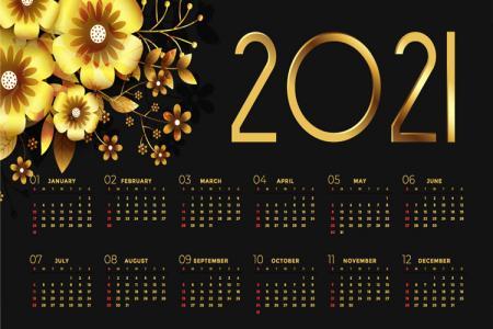 Thiết kế vector banner lịch 2012 nền vàng đen sang trọng
