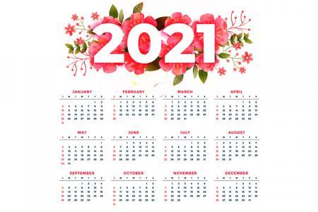 Free vector lịch tết 2021, vector lịch treo tường năm mới 2021