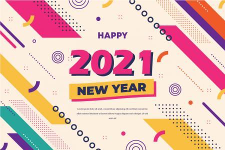 Vector nền năm mới 2021 đẹp miễn phí