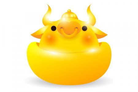Download vector trâu vàng 2021 miễn phí