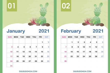 Tải miễn phí PSD lịch 2021, PSD lịch treo tường 2021