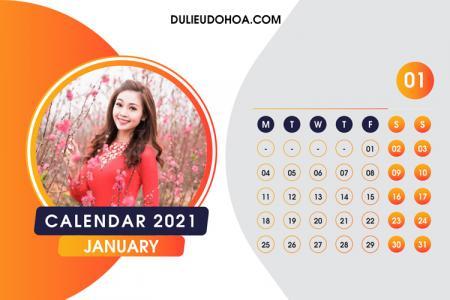 Miễn phí PSD lịch bàn 2021 phong cách hiện đại