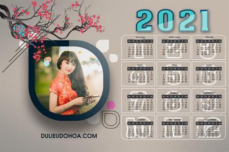 PSD lịch năm mới 2021 - Lịch treo tường, để bàn 2021