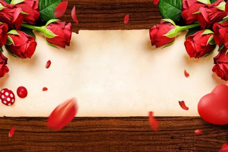 Free PSD background nền hoa hồng tình yêu đẹp