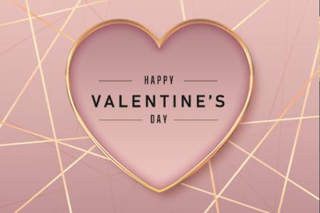 Download vector background chúc mừng Valentine nền trái tim