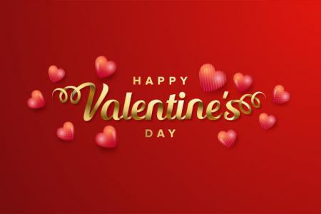 Vector background nền Valentine chữ Gold sang trọng