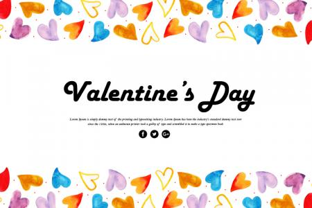 Free vector Valentine trang trí thiệp tình yêu với trái tim màu sắc