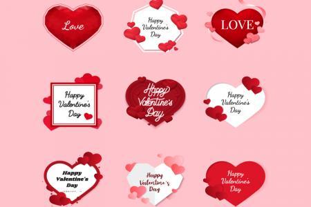 File AI vector chữ trang trí  Valentine miễn phí