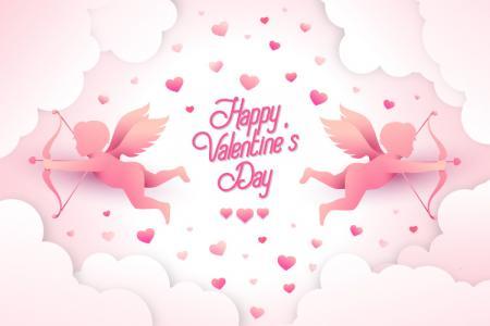 Tải vector background Thiên Thần Cupid Valentine