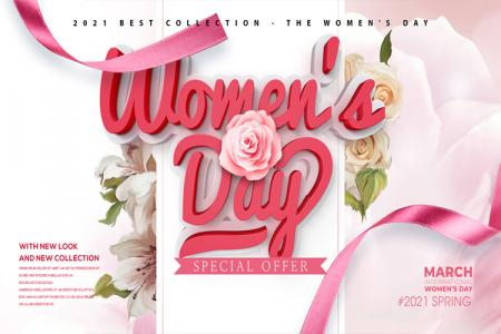 Free PSD background nền Womens Day 8/3 đẹp