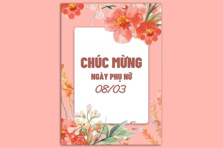 Free file PSD background nền chúc mừng 08/03 lung linh