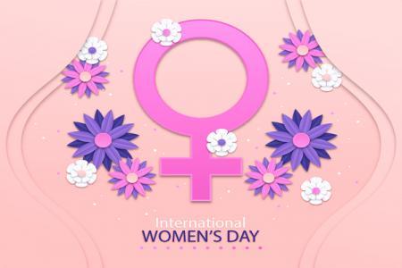 Phông Nền Background Ngày Quốc tế phụ nữ 8/3 Vector