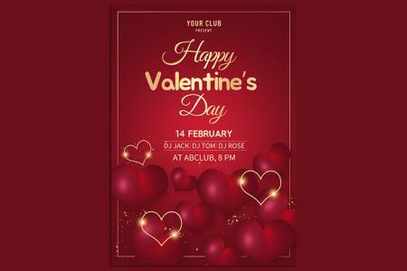 Miễn phí PSD thiết kế poster, thiệp Valentine 14/2 lãng mạn