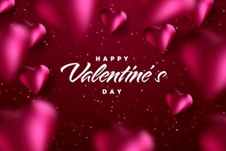 Phông Nền Background Ngày Valentine 14/2 Vector