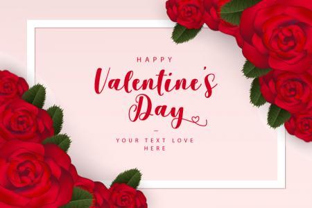Vector Valentine hoa hồng tình yêu đẹp