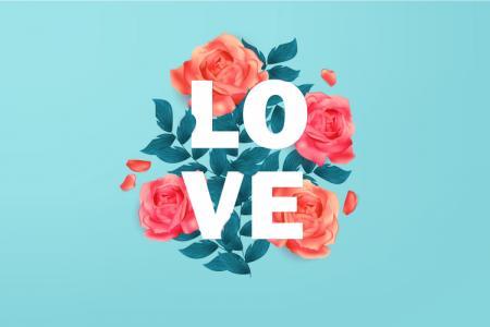 Free vector tình yêu chữ LOVE