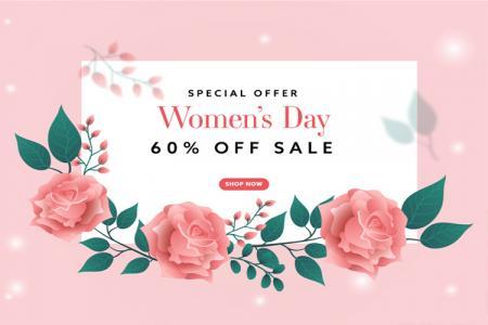 Tải vector sale 8/3, vector giảm giá ngày Quốc tế Phụ nữ
